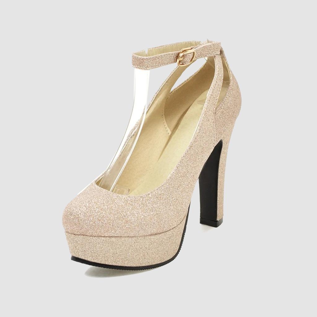 Women Pumps Ankle Strap