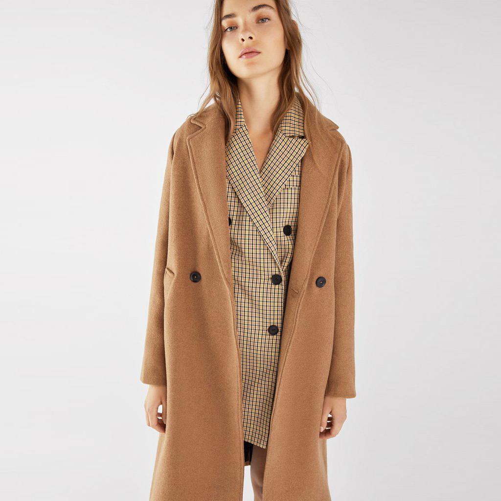 Straight long coat